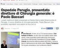 Perugia, nuovo direttore Chirurgia